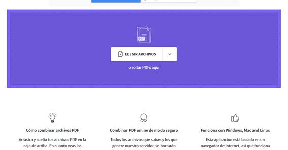 Herramientas para combinar PDF